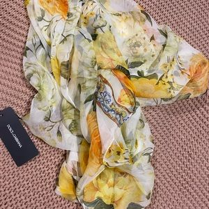 Dolce and Gabana silk scarf, BNWT